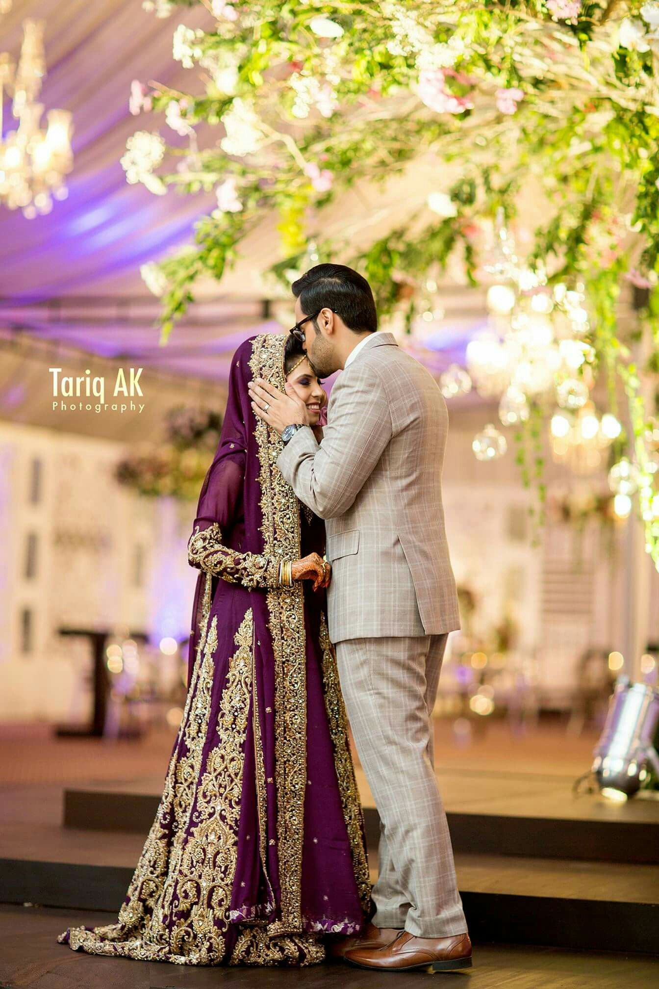 Purple Indian Wedding Dress Brides Pakistani Bridal Dresses