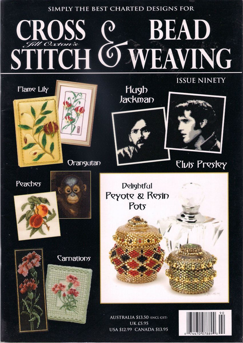Cross Stitch and Bead Weaving Magazine Issue 90 Peyote & Resin Pots ...