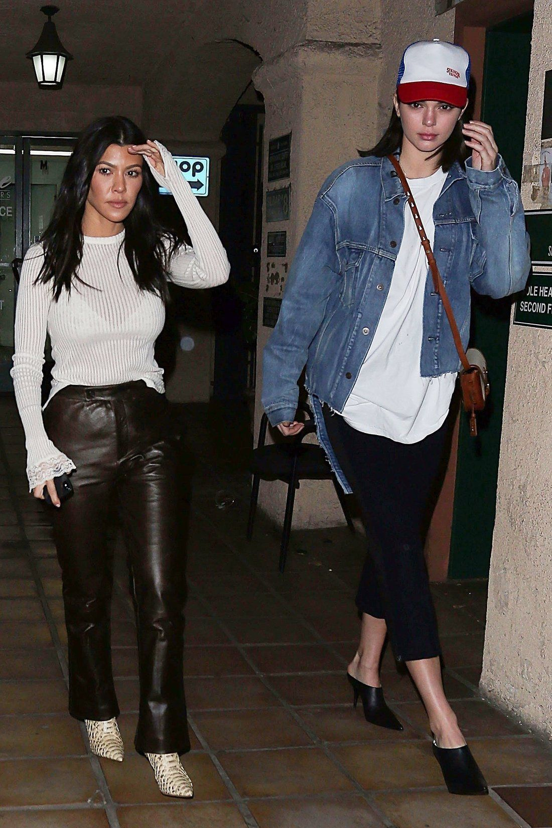 619d814e927 Kourtney Kardashian and Kendall Jenner outfits - click through for more