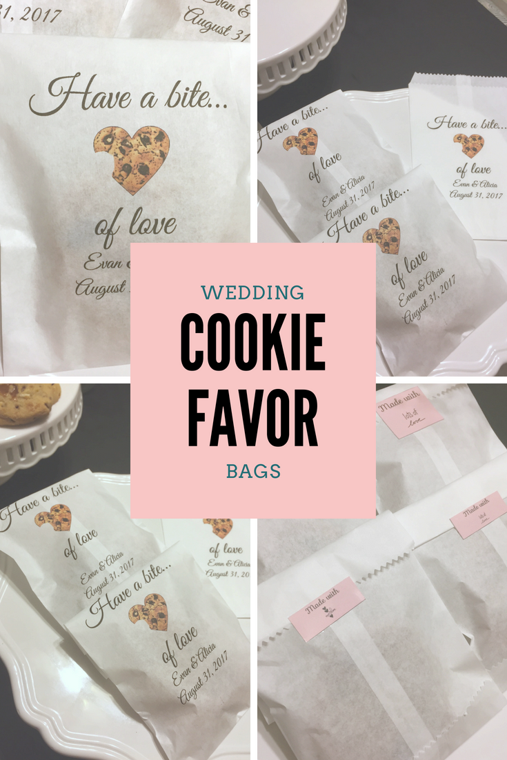 Beautiful personalized cookie favor bags. Perfect for wedding favors ...