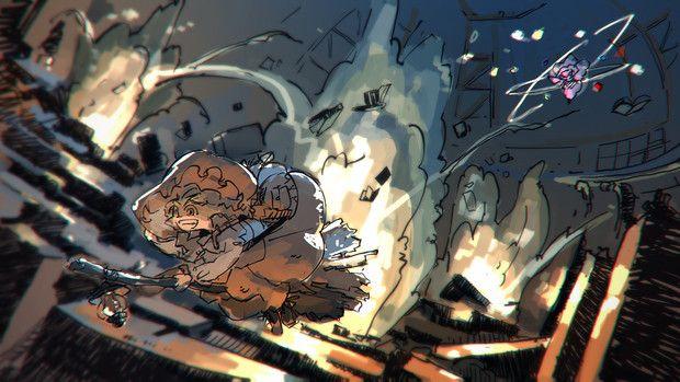 魔理沙とパチュリーの図書館戦争 Niy さんのイラスト アニメ漫画