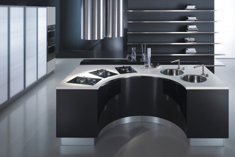 more italian designed kitchens | white and black kitchens, Hause ideen