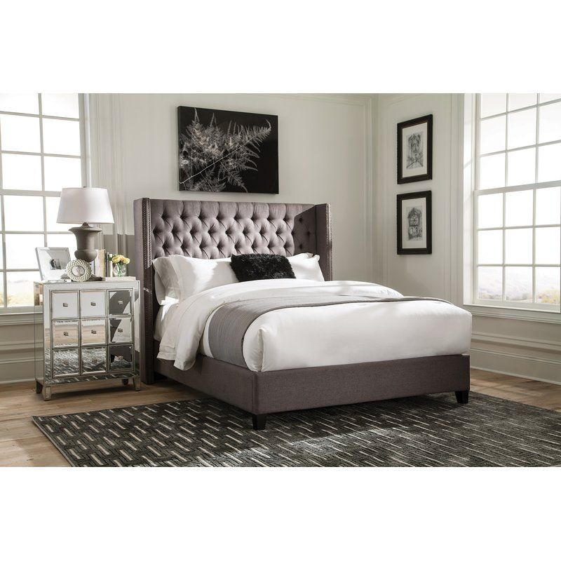 Greig Fully Upholstered Standard Bed Queen Upholstered Bed Fabric Upholstered Bed Upholstered Panel Bed