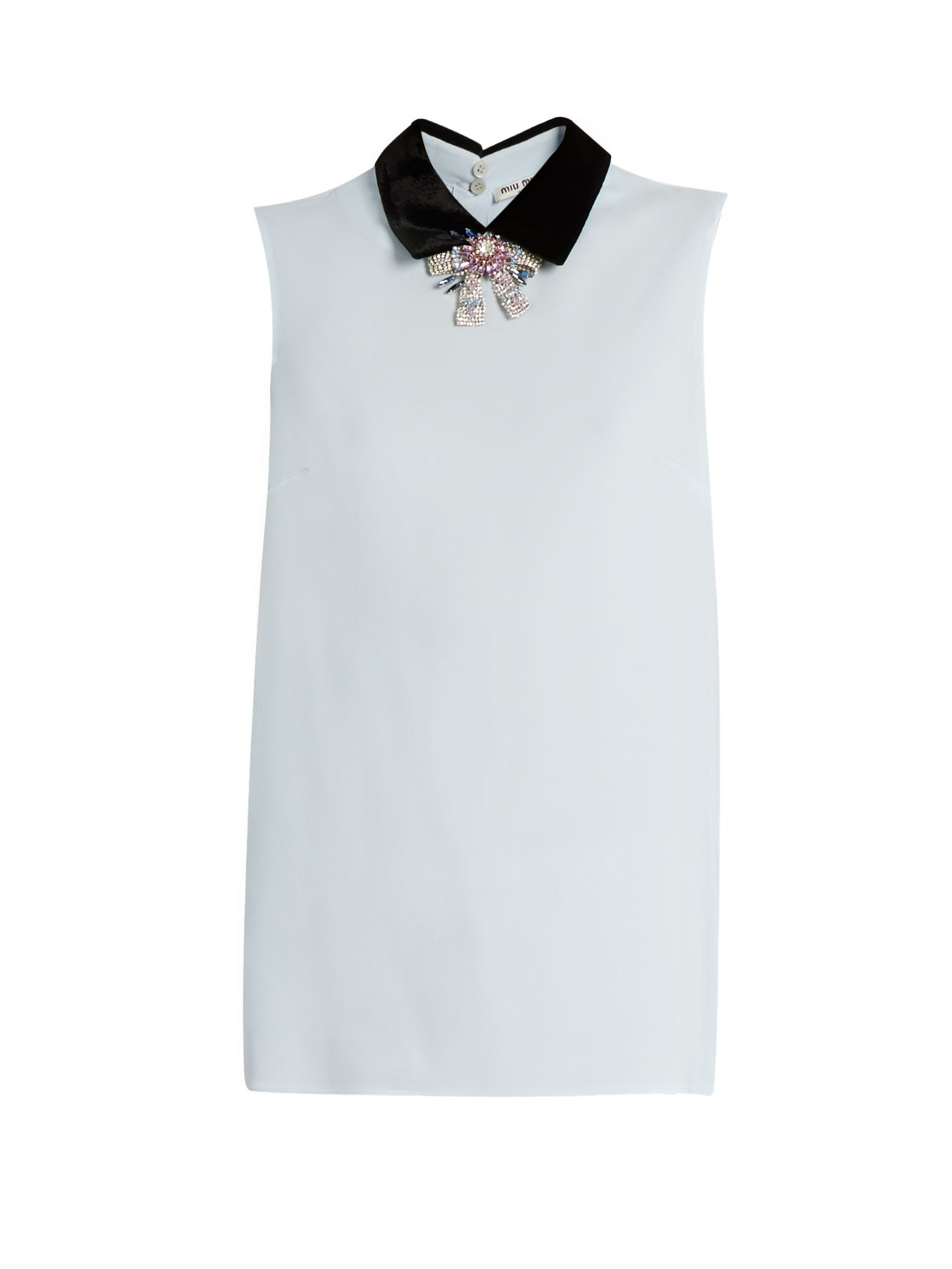 Discount Deals Looking For Online crystal embellished blouse - Pink & Purple Miu Miu QzaEuEP
