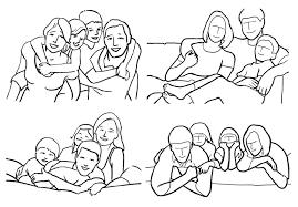 Картинки по запросу позы для фотосессии семьи в студии