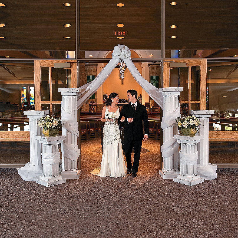 wedding columns decoration ideas | elegant roman pillar 6 column
