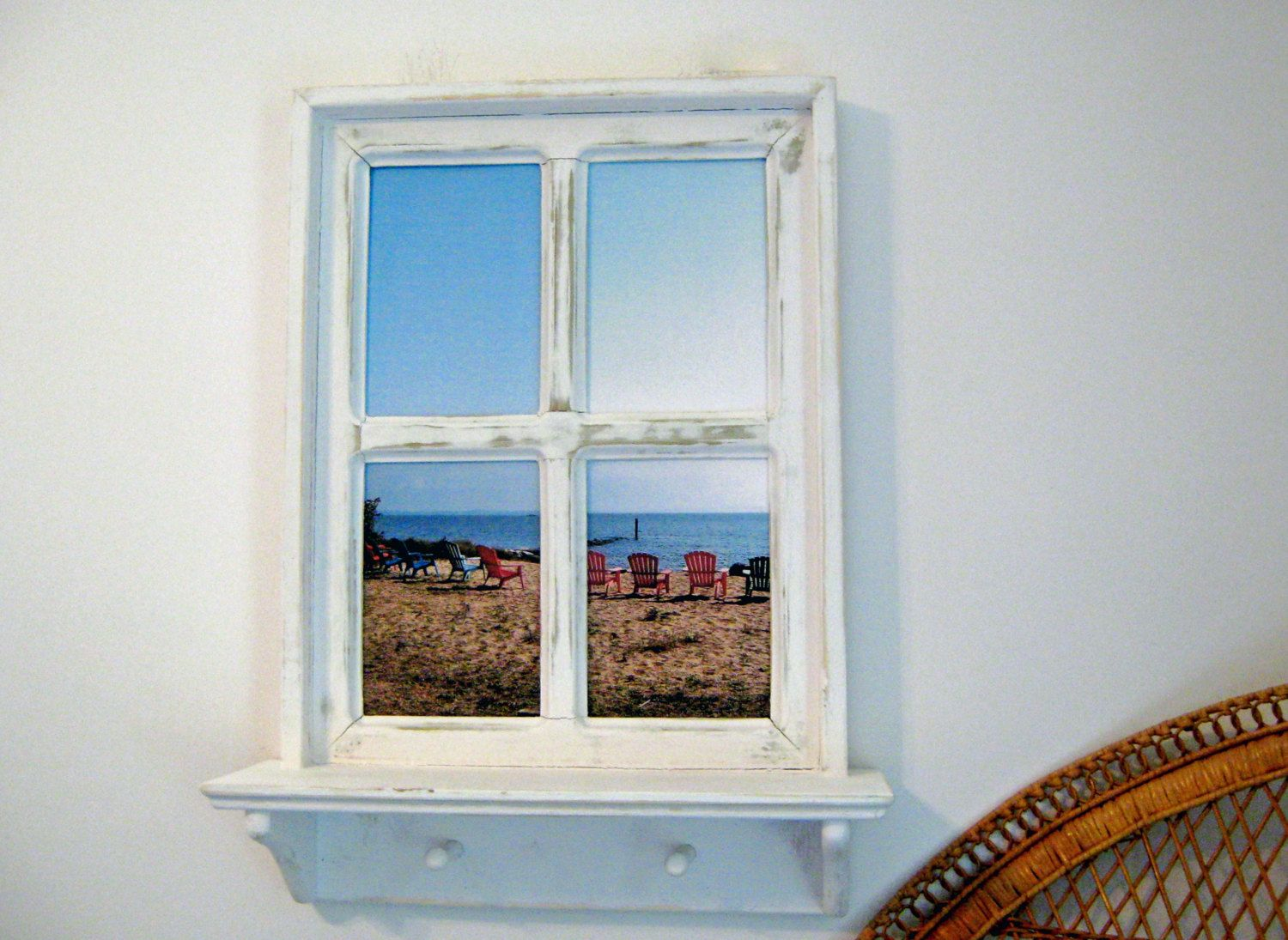 Beach Decor Wall Art Faux Window Frame Mother S Day Gift