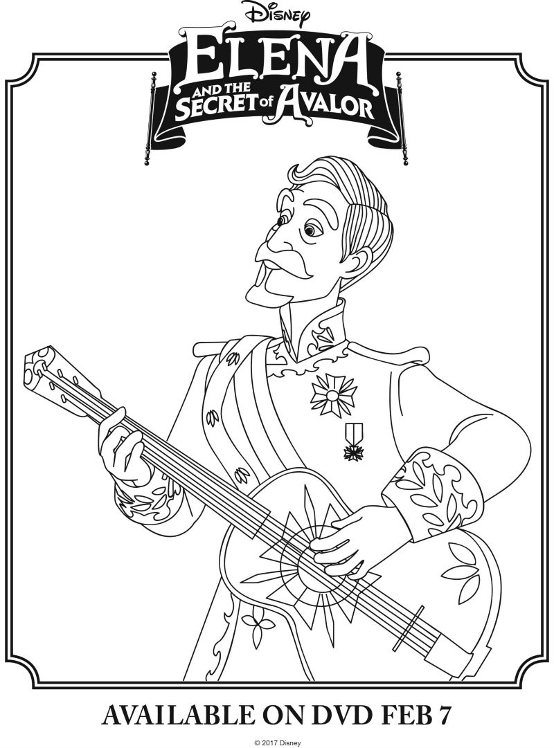 disney elena and the secret of avalor coloring page printable