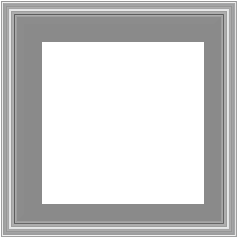 Silver Border Frame Transparent PNG Image | Gallery Yopriceville ...