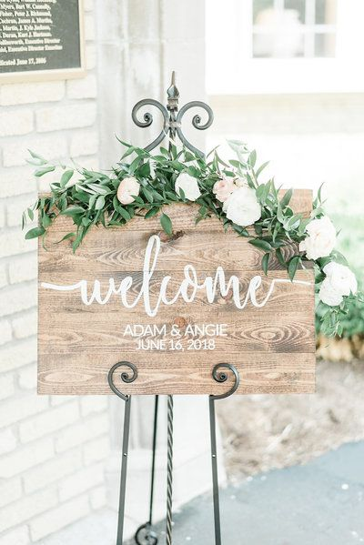 Indianapolis Wedding Planners | Tara Nicole Weddings – bruiloft welkomstbord Sum …