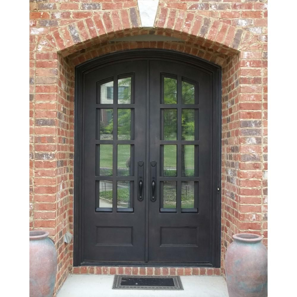 Iron Doors Unlimited 74 In X 97 5 In Craftsman Classic Clear 3 4