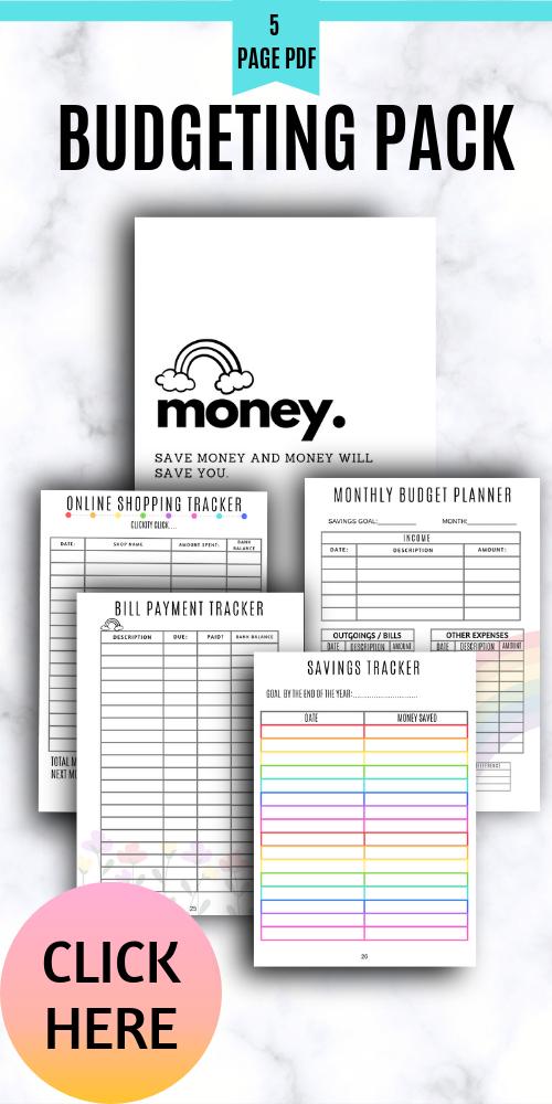 Budgeting Planner Pack Money Agenda | Budget help ...