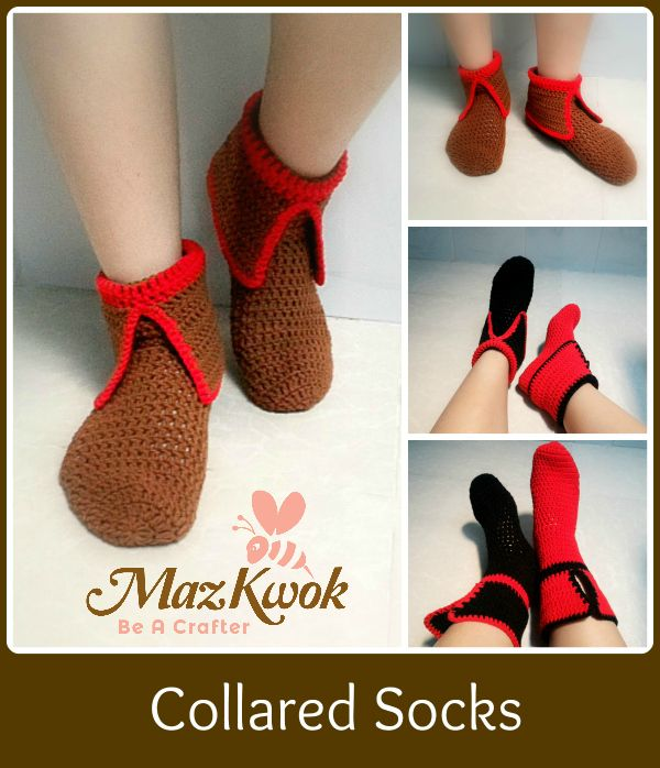 Crochet collared socks - Maz Kwok\'s Designs | Proyectos que intentar ...