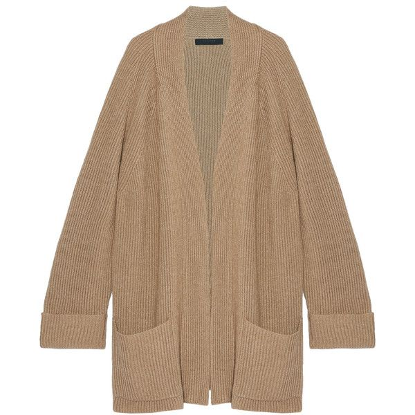 The RowCarissia Oversized Ribbed Cashmere And Silk-blend Cardigan ...
