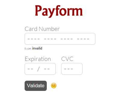Payform  Javascript Library For Building Credit Card Forms