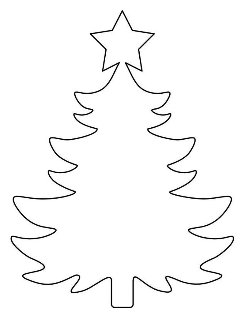 Coloring Pages That Say Merry Christmas With A Tree In 2020 Christmas Tree Template Christmas Tree Stencil Christmas Tree Pattern