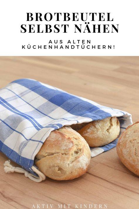 Coser bolsas de algodón / bolsas de pan usted mismo. De viejos paños de cocina. – Activo con niños