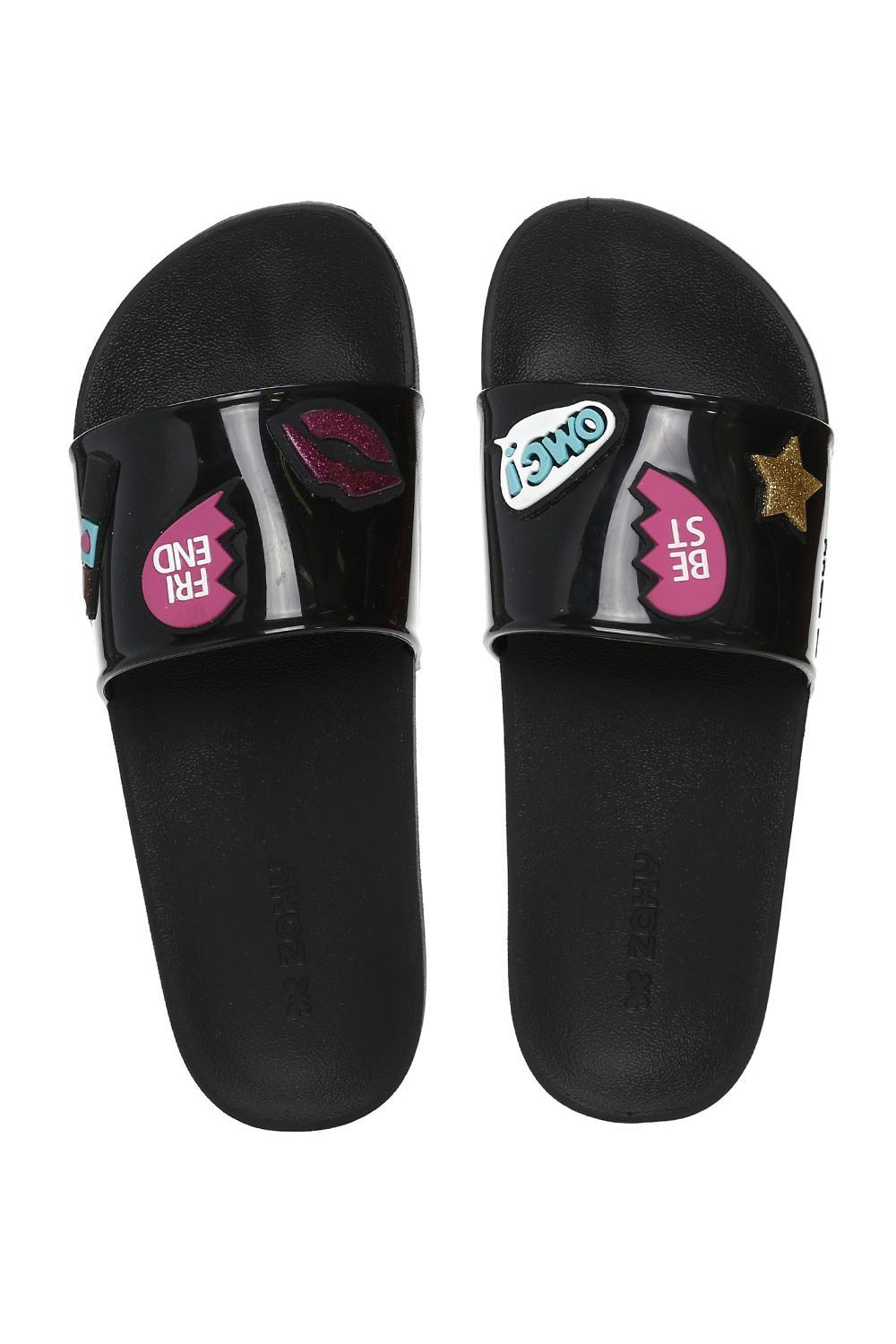 6a97e2b8751bbe Chinelo Slide Feminino Zaxy Preto/estampado - Moda it | Wishlist em ...