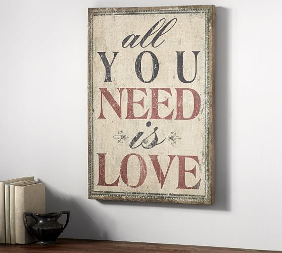 All you need is love sign pottery barn · mirror wall artmirror