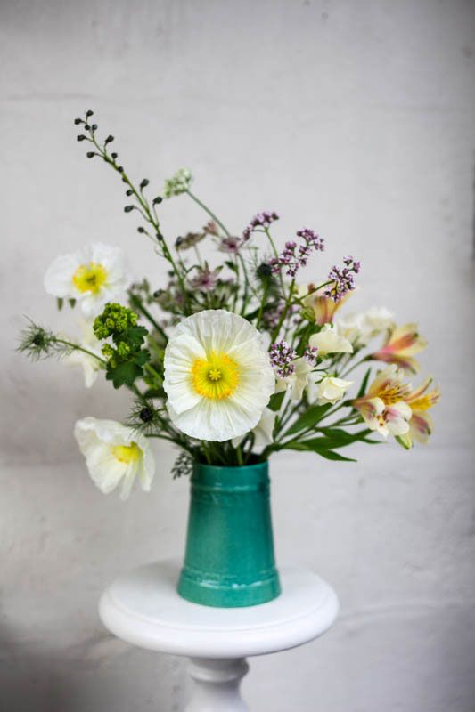 Spring centerpiece designed by Green and Gorgeous Flowers