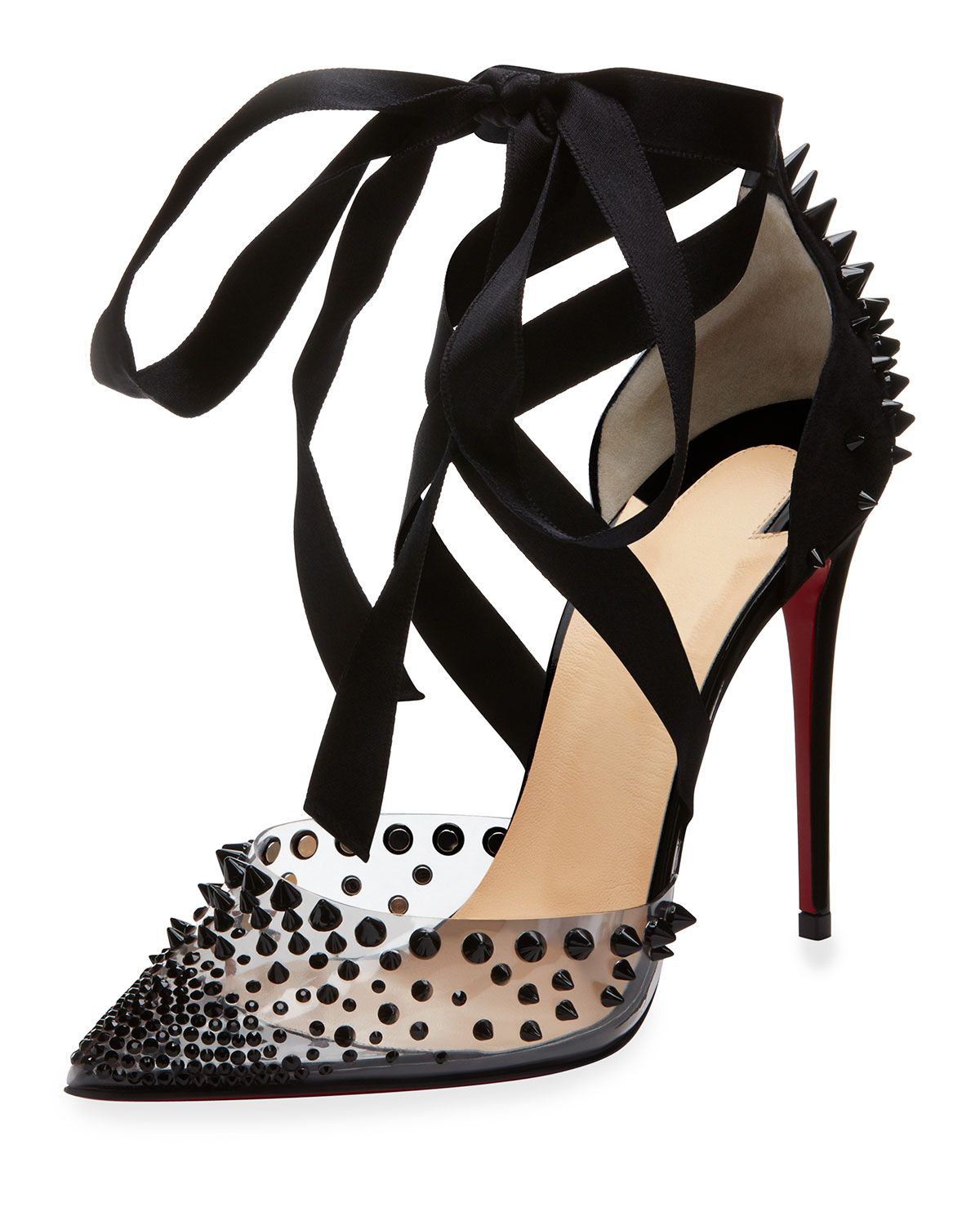 a82a41e4320 Christian Louboutin Mechante Reine Spikes Red Sole Pumps in 2019 ...