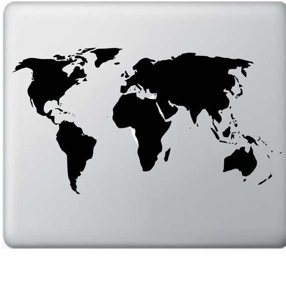 World map decal for apple macbook macbook air by decalsaffordable world map decal for apple macbook macbook air laptop decal great white gumiabroncs Gallery