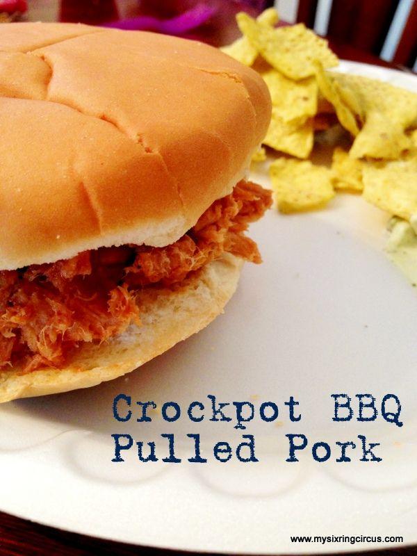 Crockpot BBQ Pulled Pork #charlestoncheesedips