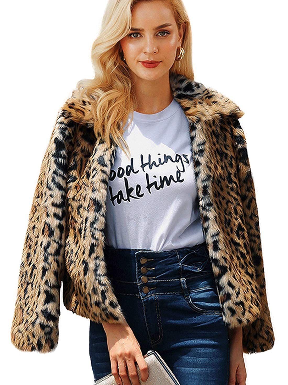 19 Faux Fur Coats On Amazon Under 50 Women S Faux Fur Coats Leopard Print Faux Fur Coat Winter Faux Fur Coat Fur Coat Outfit [ 1469 x 1100 Pixel ]