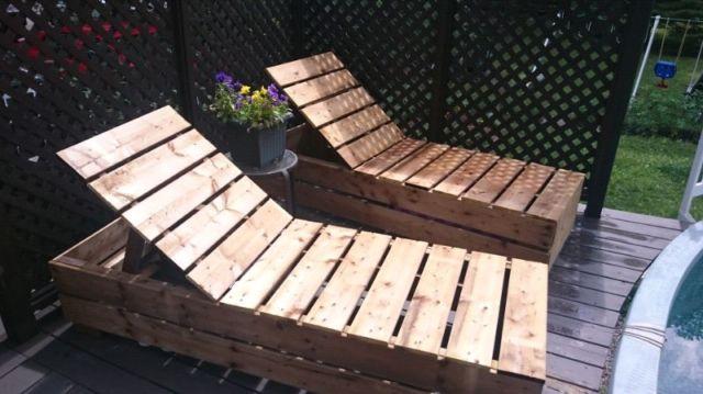 Chaise Longue En Bois Mobilier Pour Terrasse Et Jardin Ouest De L Ile Kijiji Outdoor Decor Kijiji Outdoor Furniture