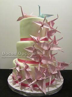 Doces Opções: Bolo de Casamento Origami