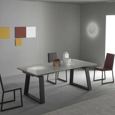 Table à manger extensible en céramique métal et alu Legend, design ...