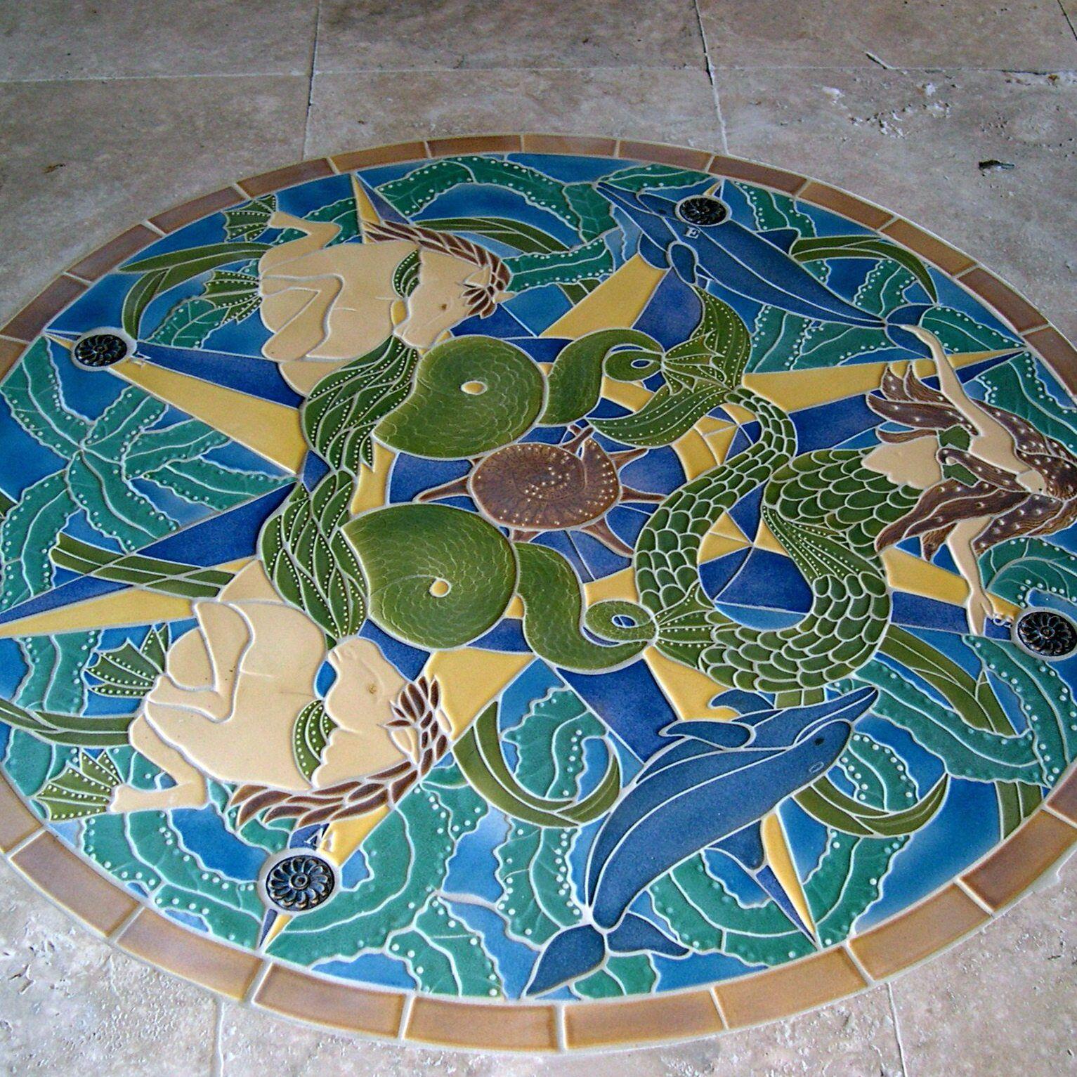 Luxury Unicorn And Mermaid Bathroom Mosaic Tile Art For Fantastic ...