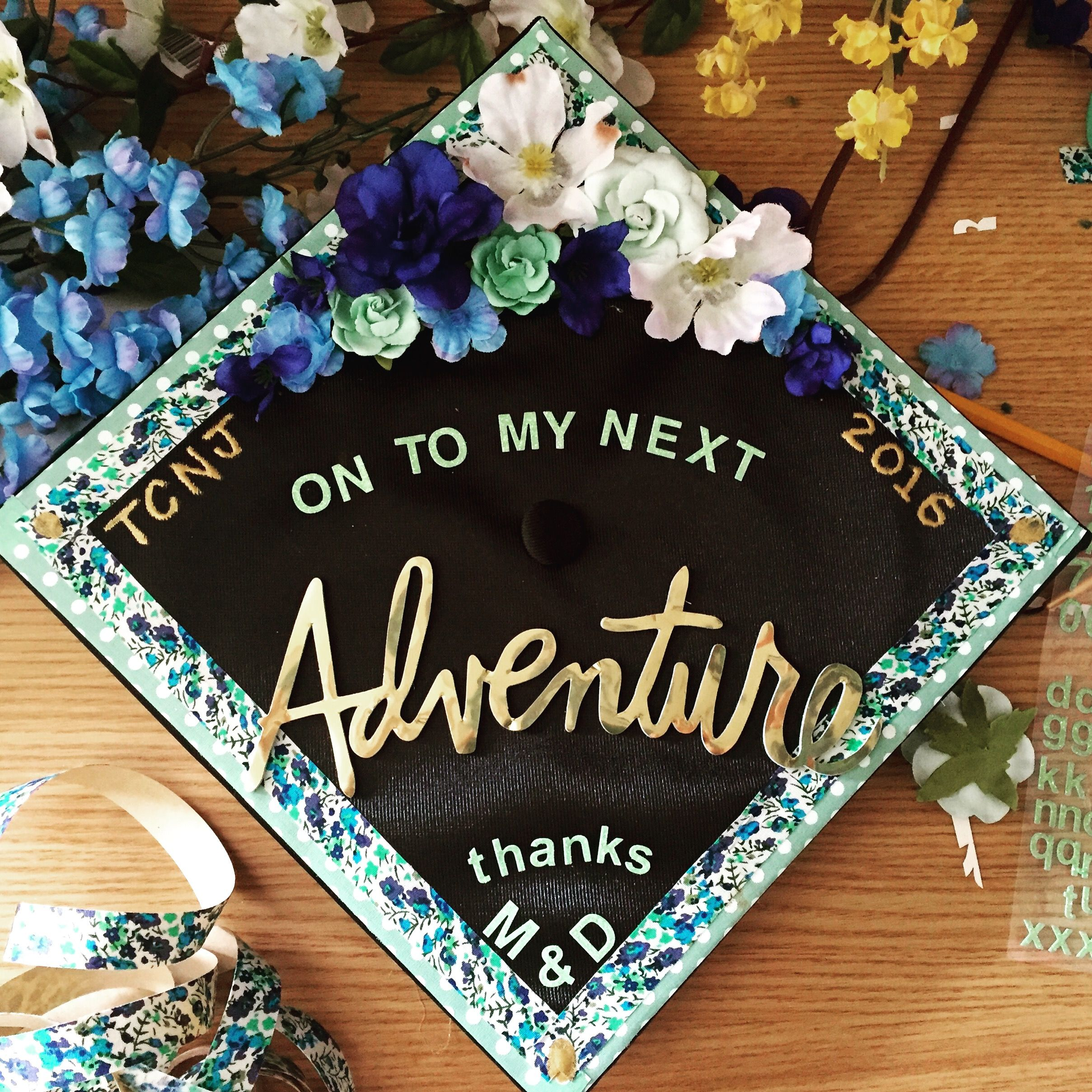 My decorated graduation cap gradcap