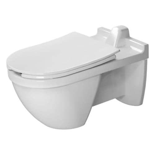 Duravit 256009 Starck 3 1 28 Gpf Wall Mounted Elongated Toilet Less Seat Duravit Toilet Modern