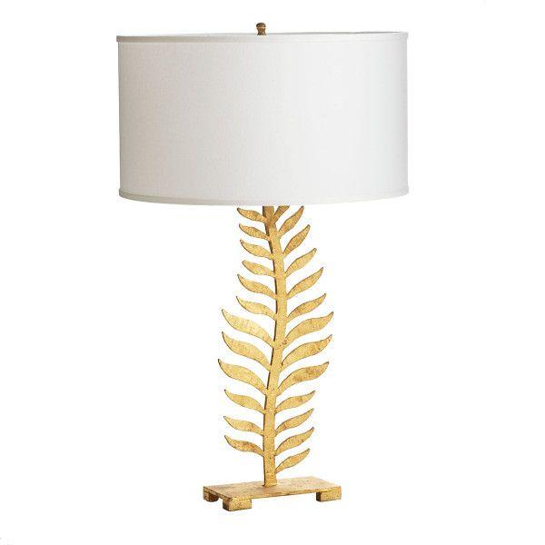 Gilt Fern Lamp New