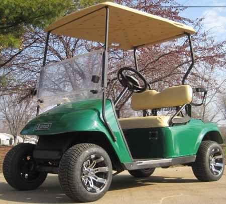 New 2012 Ez-Go 36v Electric Green Golf Cart w/ Custom Rims & Tires Custom Rims For Ez Go Golf Carts on custom electric golf carts, custom lifted golf carts, custom golf carts california, tricked out custom golf carts, ezgo golf carts, electric club car golf carts,