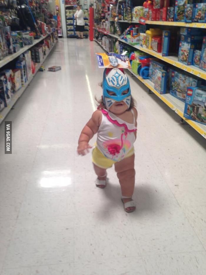 People Of Walmart Ifunny Saw This Baby Luchador About To Throw Down Today Had To Share