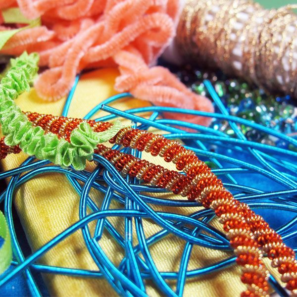 Create Textured Embroidery With Ribbons Beads More Fabric
