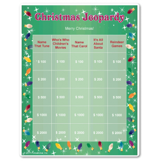 adult christmas party game for teams works well at office christmas partiesand competition can be fierce multiple game boards with all new categories - Christmas Jeopardy Game