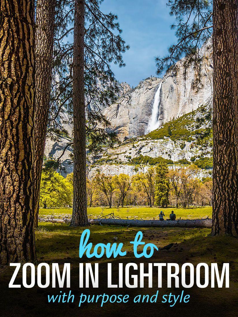 Zooming in lightroom
