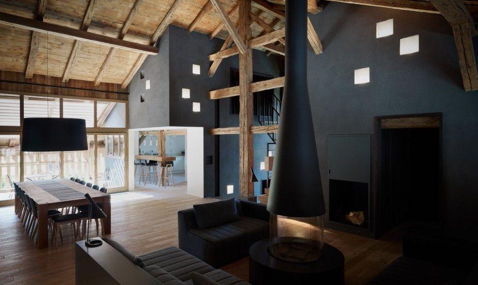 Alpenstil neu interpretiert u2013 Wohn- und Essbereich der Extraklasse