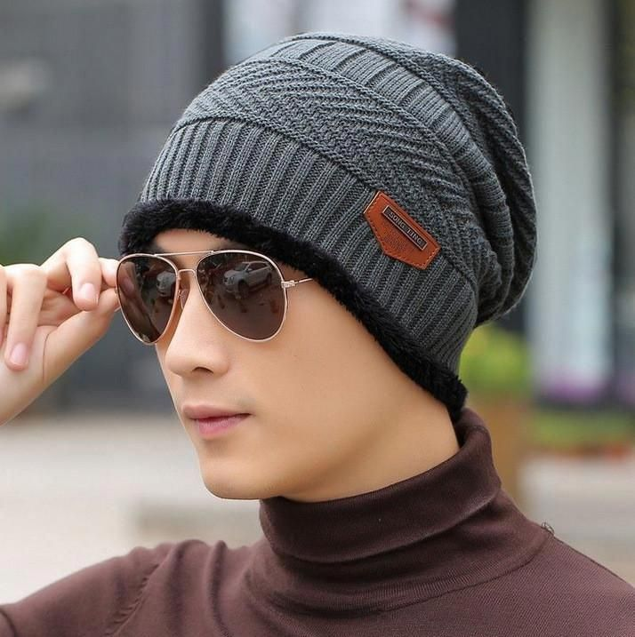 04b892f36f2 2016 New Fashion Winter Warm Knit Hat Autumn Winter Men Women High Quality  Baggy Wool Knitted Hats 5 Colors  hatsforwomenautumn