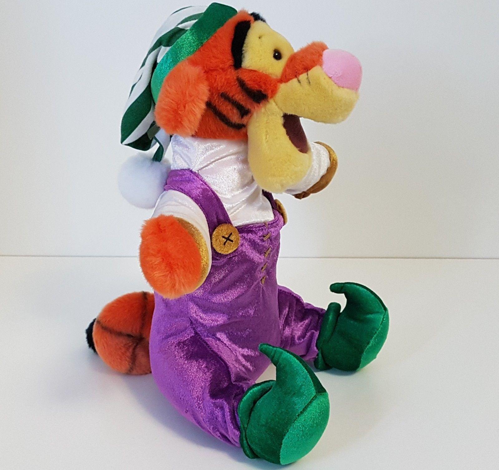 Tigger Elf Plush Toy Disney Store Exclusive Christmas Stuffed Animal