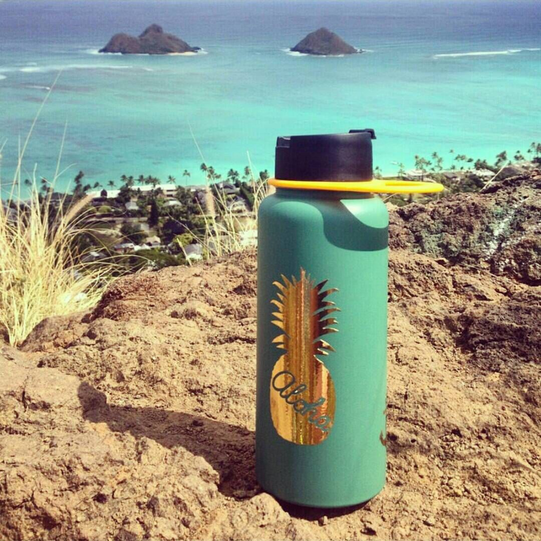 Hydro flask stickers custom decals for your hydroflask pineapple stickers custom name sticker personalized sticker handmade in kailua hawaii 12 00 usd by