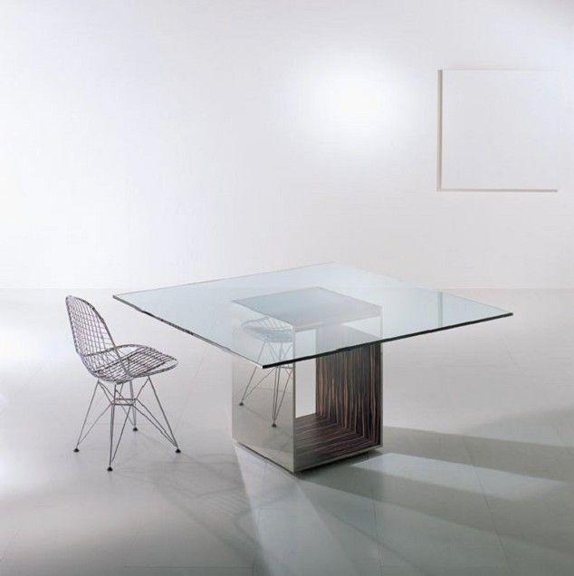55 Glass Top Dining Tables With Original Bases  Digsdigs  For My Prepossessing Bases For Glass Dining Room Tables Design Ideas