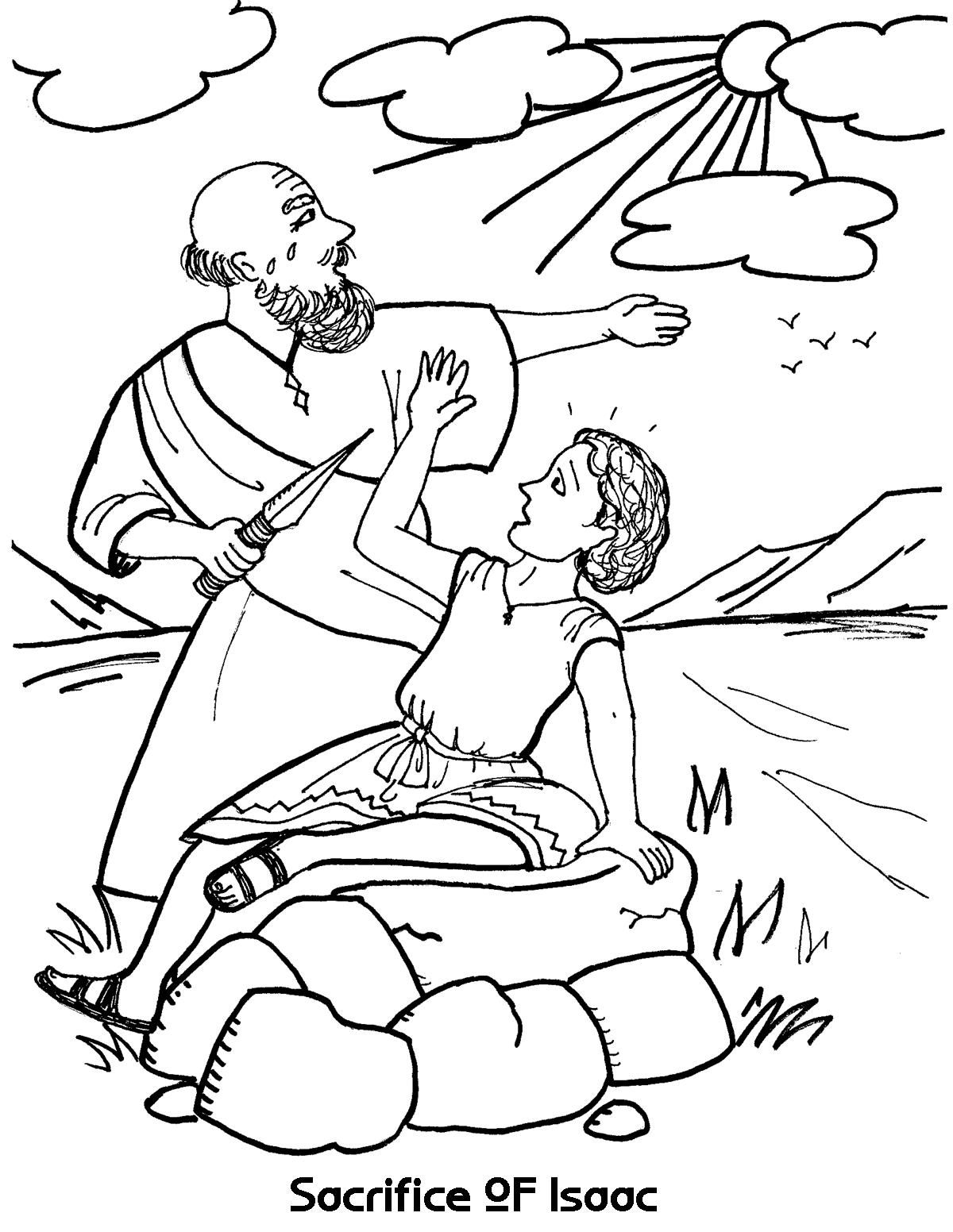 abraham and isaac coloring page - abraham and isaac a pattern of things to come bible