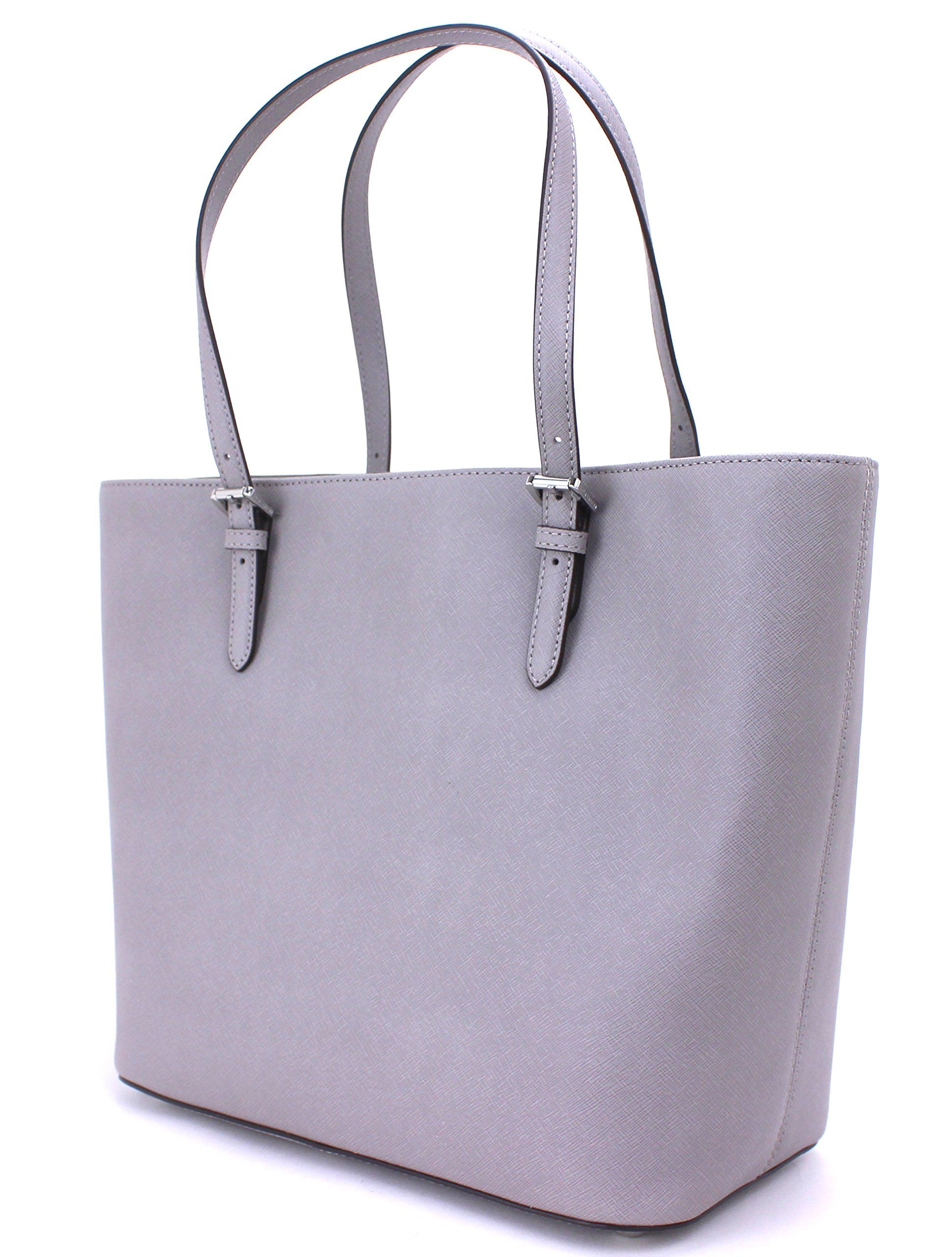 616c398ff96a84 Michael Kors Jet Set Large Pocket MF Tote Saffiano Leather Pearl  Grey/Silver *** See this great product. (This is an affiliate link)  #MichaelKorsHandbags