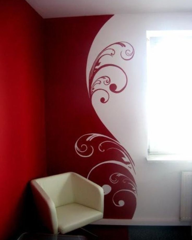 Painting Two Walls In A Room: Good For A Two Color Focal Wall