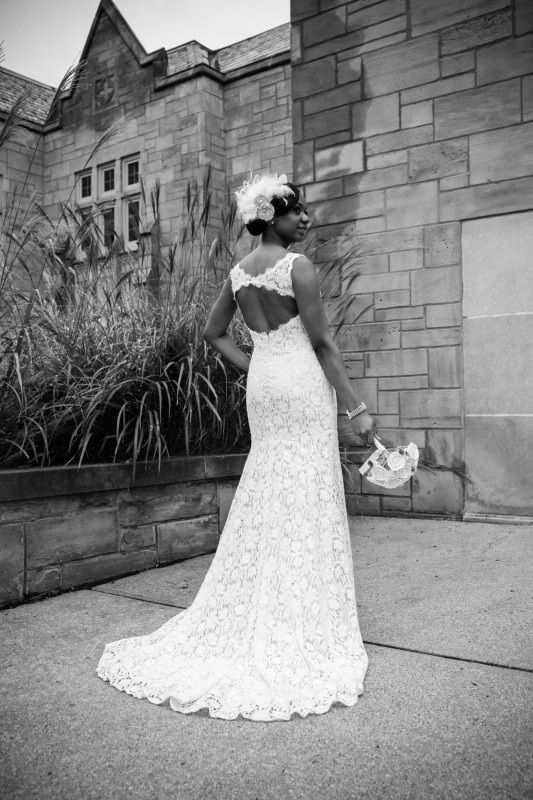 Vintage wedding, cotton lace dress