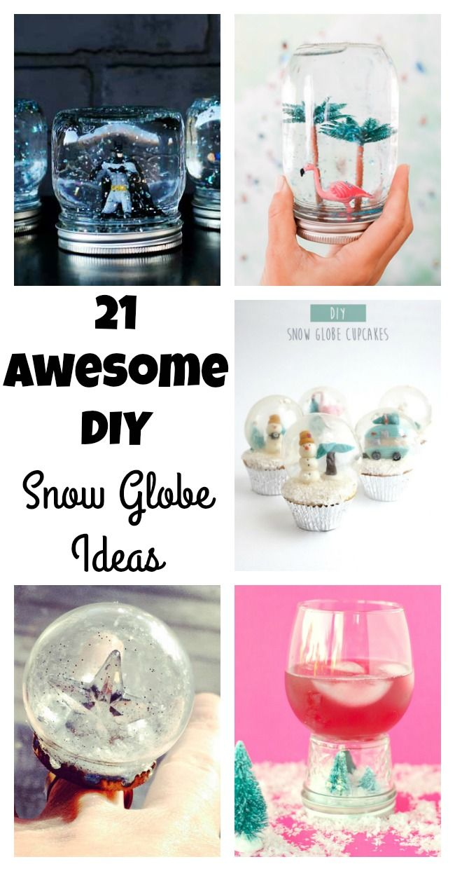 So many fun snow globe ideas to make with kids or friends
